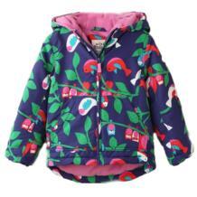 2018 Новая детская одежда для девочек зимние пальто Утепленная стеганая куртка с хлопковой подкладкой с принтом Совы ветрозащитные детские куртки От 2 до 7 лет No name 32467539982