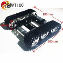 Сделайэто мини T100 гусеничный Танк шасси автомобиля отслежены салона автомобиля для робота конкуренции DIY RC игрушки Doit.am 32800078967