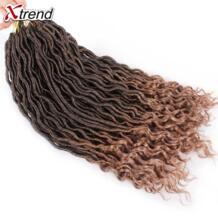 Xtrend искусственная Locs вьющиеся вязанная косами Синтетические пряди для наращивания волос Ombre канекалон плетение волос 24 нити в упаковке 18 дюймов No name 32816682816