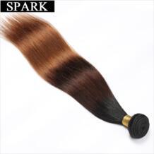 1B/4/30 & 1B/4/27 эффектом деграде (переход от темного к бразильские прямые волосы 1/3/4 шт. Волосы remy пучки волос плетение 100% Пряди человеческих волос для наращивания Инструменты для завивки волос Spark 32815731374