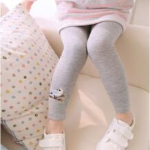 Хлопковые Штаны для маленьких девочек, теплые эластичные леггинсы с вышитыми птицами, штаны на осень, весну и зиму No name 32341232404