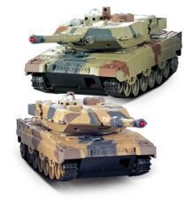 Rc tank 2,4G Боевой набор пара с двумя танками 552 аккумуляторная батарея RC Россия танки подарок для детей ICOOLA 32933063403