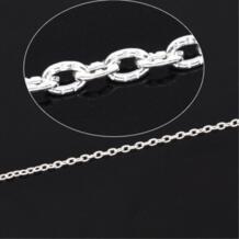 10 м серебряные украшения текстурированный кабель звено цепи 3 мм x мм 2 мм Jewery Выводы Компоненты DIY (B14897) DoreenBeads 1055678456