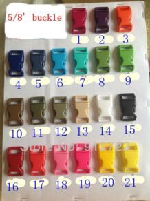 """100 шт./лот 21 цветов 5/8 """" ( 15 мм ) пластиковые пряжки для paracord браслеты бесплатная доставка No name 848978667"""