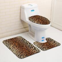 3 шт./компл. леопард и тигр узор для ванной коврики туалет ковры ванная комната мягкие абсорбирующие s Honlaker 32833828892
