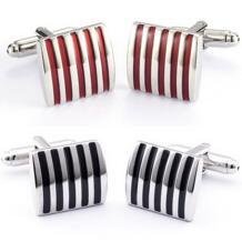 1 пара черный/красный запонки Для мужчин Jewelry высококачественные шлепанцы; горячая Распродажа классический полосой квадратных Для мужчин Запонки Свадебные Для мужчин S пользовательские P cindiry 32516425586