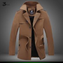 Мужская Зимняя мода высокого класса однобортный плащ/мужской чистый цвет кашемировая куртка с капюшоном Большие размеры длинное пальто XMY3DWX 32795007348