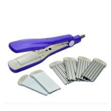 3 в 1 Сменные пластины выпрямитель для волос гофрированный обжимной выпрямитель для волос Электрические Инструменты для укладки фиолетовый No name 32708545057