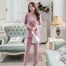 Южная Корея новый сезон Весна Лето Новые Модные Элегантные костюм с сеткой костюм женский темперамент был тонкий девять штанов женская одежда longqibao 32867653649