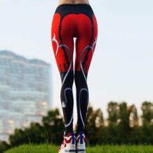 Для Женщин Прикладом шить Ассорти Цвета Йога Бег Колготки Леггинсы Спортивные штаны женские Для женщин тренажерный зал работает сетка тренировки брюки HimanJie 32840576321