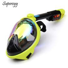 2018 Новая маска для плавания для подводного излучения анти-туман Анти-разлив полная маска для дайвинга для камеры GoPro superzyy 32868888300