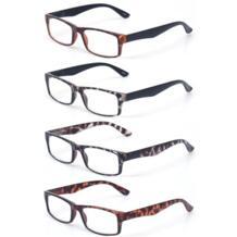 Очки для чтения 4 пара большое значение качеству читателей Пластик комфорт для Для мужчин очки для чтения Пресбиопии очки Henotin 32786379843