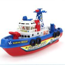 Электронная Лодка США пожарная Лодка Авто спрей водный морской порт Рабочая лодка пожарный корабль со светодиодной моделью электронные игрушки хобби hugine 32826393332