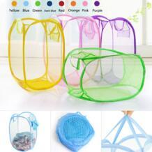 нейлоновая сетчатая ткань корзина для хранения игрушек стиральная корзина для грязного белья корзина складная коробка hoomall 32553697587