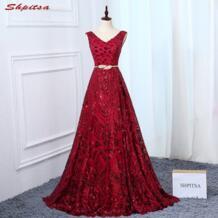 Красный мать невесты платья для свадеб Линия Вечерние платья жениха крестная платья shpitsa 32873660308