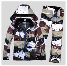 Зимние впечатление мужской лыжный костюм ветрозащитный водостойкий Сноуборд Лыжный спорт куртка + брюки для девочек новый для мужчин лыжная одежда водонепрони WINTERIMPRESSION 32760520188