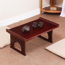 Азиатский мебель японский антикварный стол-Консоль складные ножки Прямоугольник 60 см Гостиная традиционной твердой древесины столик-поднос деревянный No name 32427774113