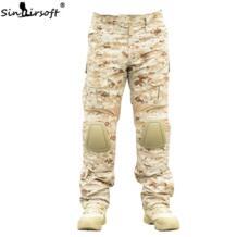 SINAIRSOFT тактические брюки военный, камуфляж, Охота Одежда с наколенниками наружная походная кемпинговая армия флисовые брюки No name 32827210318