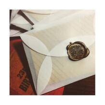 100 шт./лот 8.9x5.8 см Ретро полупрозрачные конверт ручной работы DIY пергаментной бумагой mailer Свадебная вечеринка конверты пригласительный билет eKangbuy 32794614763