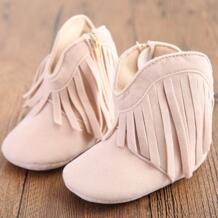 Мокасины Moccs для новорожденных мальчиков и девочек дети кисточкой Prewalker, обувь для новорожденных малышей на мягкой подошве противоскользящие Сапоги пинетки Kacakid 32722353637