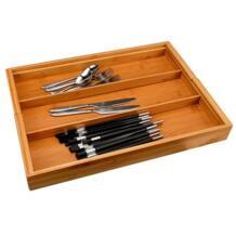 Расширяемый лоток для столовых приборов Ящик Организатор лоток для столовых приборов Кухня многофункциональный ящик коробка для хранения столовых приборов waasoscon 32911311597