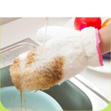1 предмет хлопок бытовой Кухня толстые теплые длинные перчатки для мытья посуды очистки No name 32864249185