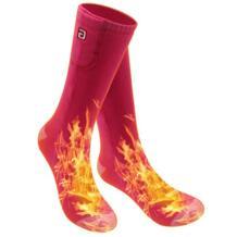 Носки с подогревом для холодной погоды, 2,4-В 3 В, хлопковые носки для мужчин и женщин No name 32892511954