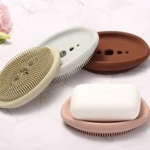 Держатель для мыла силиконовый чехол для хранения мыльницы держатель для хранения ванной Soapbox тарелка лоток коробка Бытовые аксессуары jabonera ISHOWTIENDA 33006832483