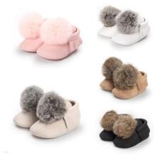 Зимние Теплые повседневные зимние ботинки из мягкого хлопка для маленьких мальчиков и девочек, обувь на шнуровке и подошве 0-18 м pudcoco 32841940957