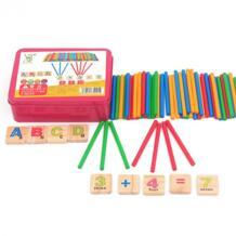 Высокое качество Дети Монтессори Математика Деревянные игрушки Цвет палочки раннего обучения подсчет обучающая математическая игрушка для Детский подарок Dental house/牙屋 32806845091