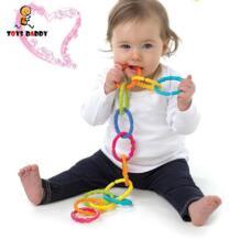 Топ 6 шт./компл. Baby teether gum stick хватательные игрушки Радуга молярный круг мягкими кровать вручение игрушки Дети Подарки для мальчиков и девочек HAPPY MONKEY 32803794076