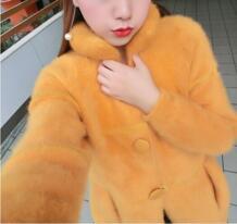 Новое поступление, модное пальто из натурального меха норки на пуговицах, Брендовое меховое пальто из натурального меха норки, бесплатная доставка, KFP553 TONFUR 32340477965