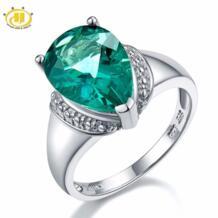 Hutang 6.21ct подлинные красочные перстни с флюоритом драгоценный камень 925 серебряный пасьянс дизайн кольцо для женщин специальный подарок Лидер продаж Новинка HUTANG GEMS & JEWELRY 32371521414