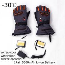 -30 градусов унисекс 7,4 V 5600 Mah теплые перчатки для сноуборда зимние мужские теплые ветрозащитные лыжные перчатки с подогревом 8 H WARMSPACE 32795569740