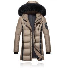Утепленные парки Для мужчин 2018 зимняя куртка Для мужчин пальто мужские верхняя одежда меховой воротник Повседневное длинные хлопковая стеганая Для мужчин пальто с капюшоном Asstseries 32910214064