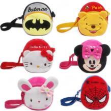 Плюшевые сумки через плечо, детские сумки, детские сумки, кошелек, мультяшная сумка для детей, для мальчиков и девочек, школьный рюкзак с животными, подарки HAPPY MONKEY 32860826193