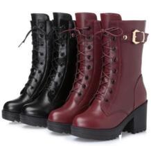 Magic Baini/женские зимние ботинки, Нескользящие, износостойкие, теплые и удобные, тонкое мастерство, фаза изделия идеальная, beau MoBeiNi 32843620875