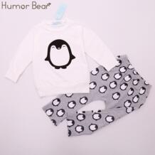 /Новая модная детская одежда, одежда для малышей, одежда для маленьких девочек, осенний костюм с длинными рукавами + штаны, Одежда для младенцев Humor Bear 32727384277