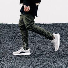 PUNKOOL Boost шаровары 2017 Осень мужские шкуры брюки сбоку на молнии мужчин Тонкий Повседневный Kanye West эластичные штаны-шаровары No name 32584189147