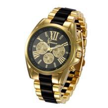 2018 новые модные часы GENEVA ЖЕНСКИЕ НАРЯДНЫЕ часы розовое золото полный стальной Аналоговый кварцевые мужские часы со стразами 50 шт./партия FULAIDA 32299255497