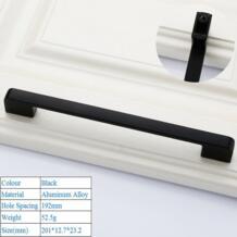 Матовый Черный алюминиевый сплав безопасности Дверные ручки для шкафа Современная дверная ручка высокого класса ящика флеш ручки Аппаратные аксессуары OLOEY 33002358119