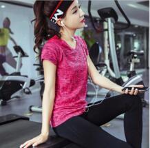 Новый бренд экспорта Бег популярных устойчивы к ультрафиолетовому излучению спортивная одежда Футболки для женщин Футболка Slim Fit Топы корректирующие Быстрый женская футболка Подкладка No name 32662413481