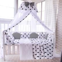 11 шт./компл. Детская кровать бампер постельное белье можно стирать собрать из хлопка с принтом детская кровать вокруг крепление бампера подушки новорожденных бортики для кроватки Dancing petals 32839128275