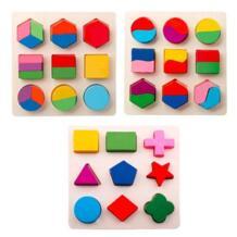 Vitoki Детские 3D деревянная игрушка-головоломка красочные геометрические фигуры распознавания игрушки замечательных детей обучения Развивающие игрушки No name 32870824871