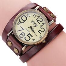 Ccq большой кварцевые Элитный бренд Винтаж кожа коровы часы-браслет для мужчин для женщин модные наручные часы для женщин нарядные кварцевые часы браслет susenstone 32762419023