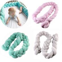 3 цвета Nordic Стиль длинной завязанный Подушка декоративная детская кровать занавес Подушка Home Decor Детская кровать кос бампер в кроватку игрушки qianquhui 32875004362