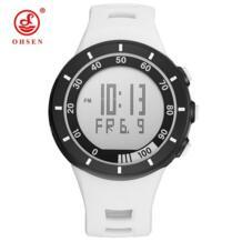 Горячая Распродажа Ohsen цифровой бренд lcd белые мужские часы для мальчика reloj hombre 50 м Dive силиконовый ремешок наружные спортивные наручные часы мужские подарки No name 32246889679