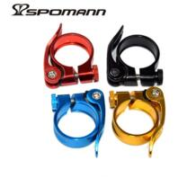 Spomann Алюминиевый зажим MTB велосипед быстросъемный дорожный велосипедный зажим для сидения велосипеда 34,9 мм подходит для подседельный штырь диаметром 30,8/31,6 мм No name 32561570192