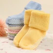 хлопок Детские носки осень и зима сгущать теплый новорожденных носки для мальчиков и девочек пол износа Противоскользящий носок для детей от 0 до 3 лет DreamShining 32738069225