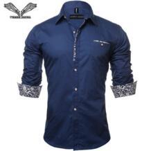 VISADA Яуна 2017 Для мужчин рубашка однотонный деловой платье Повседневное Slim Fit мужской рукавами Camisa социальной Masculina плюс Размеры 5Xl N128 VISADA JAUNA 32443059914